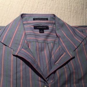 Like New! Lands End striped button down